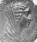 Pièce de monnaie représentant Cléopâtre VII.Site de la BNF.