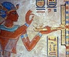 Offrande d'encens de Ramsès. Louvre